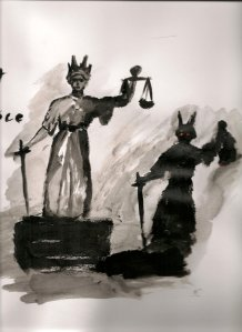 Photo: Lady Justice painting by http://meh-cbeth.deviantart.com/art/lady-justice-166868890